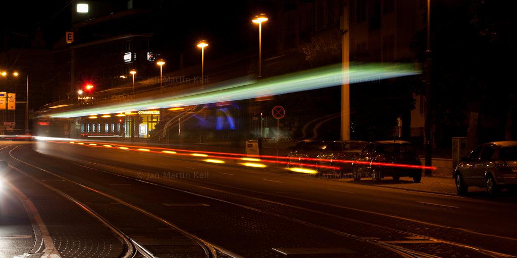 Jena: Löbdergraben mit Straßenbahn