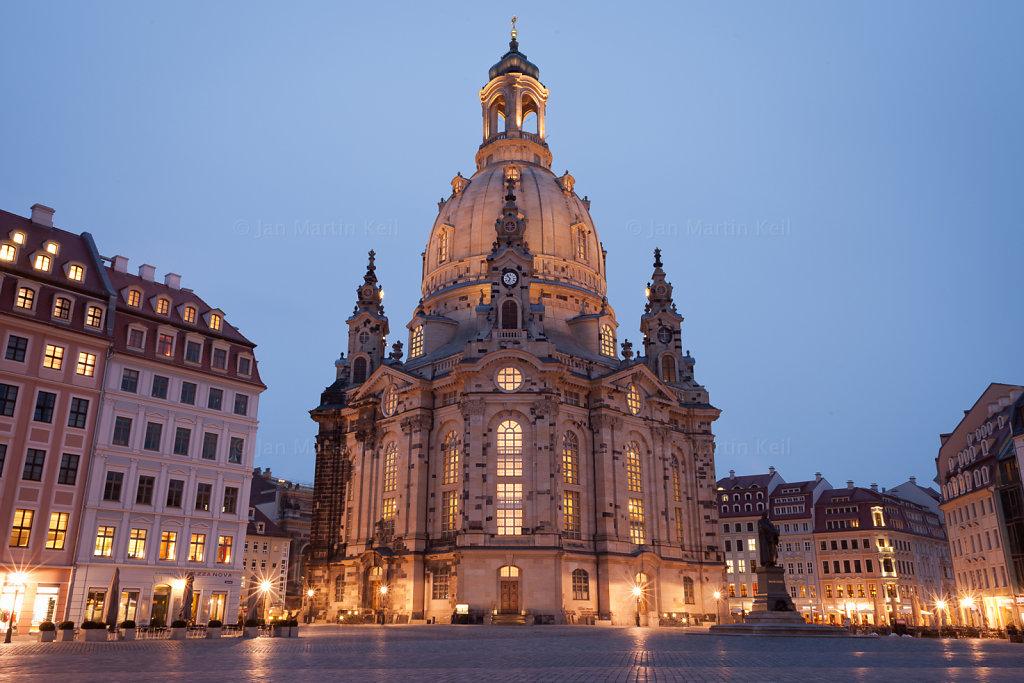 Dresden: Frauenkirche bei Nacht