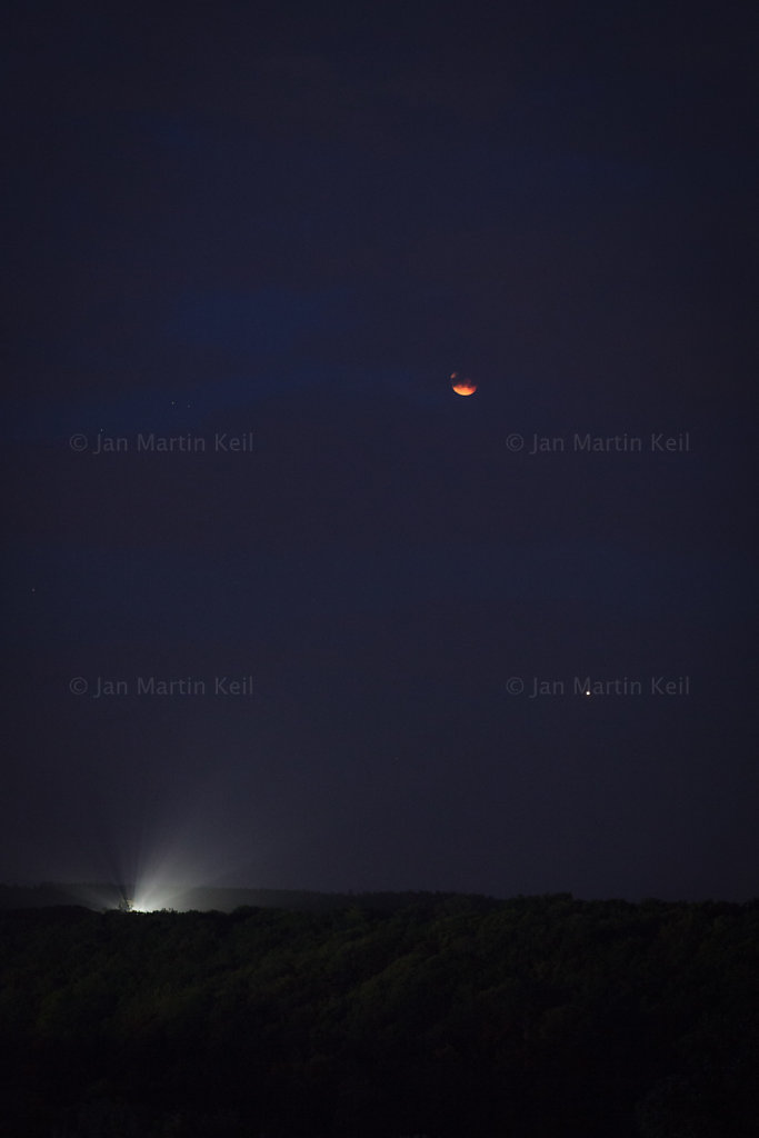 Mondfinsternis & Mars